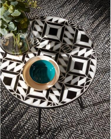Black Oswalda coffe table Ø 46 cm
