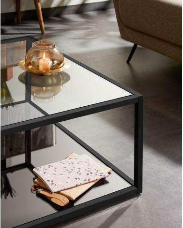 Blackhill black square coffee table 80 x 80 cm