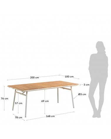 Robyn table 200 x 100 cm