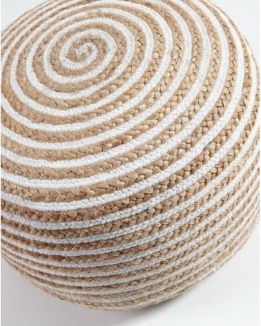 SAMY(SAHT) pouf jute round 50x35 jute natural white