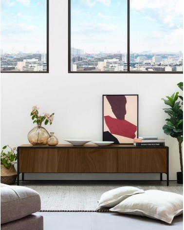 Nadyria walnut wood TV Stand 180 x 50 cm