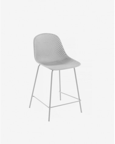 CC1221S05H - White Quinby stool height 65 cm