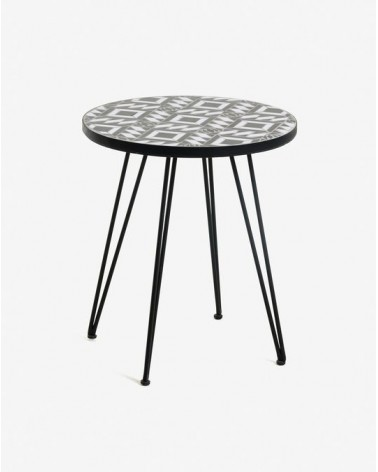 Black Oswalda coffe table Ø 46 cm