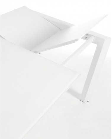 EXTENDABLE table axis 160 (220) cm white glass whi