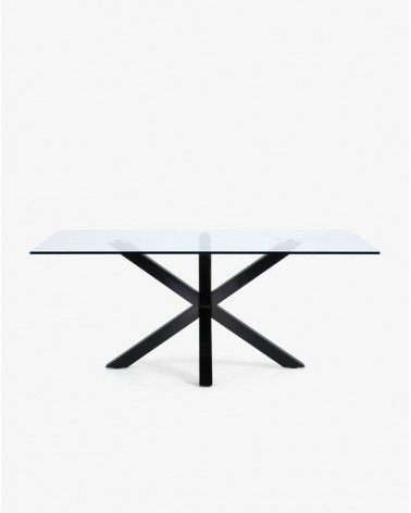 ARYA(ARGO) table 200x100 black, clear glass