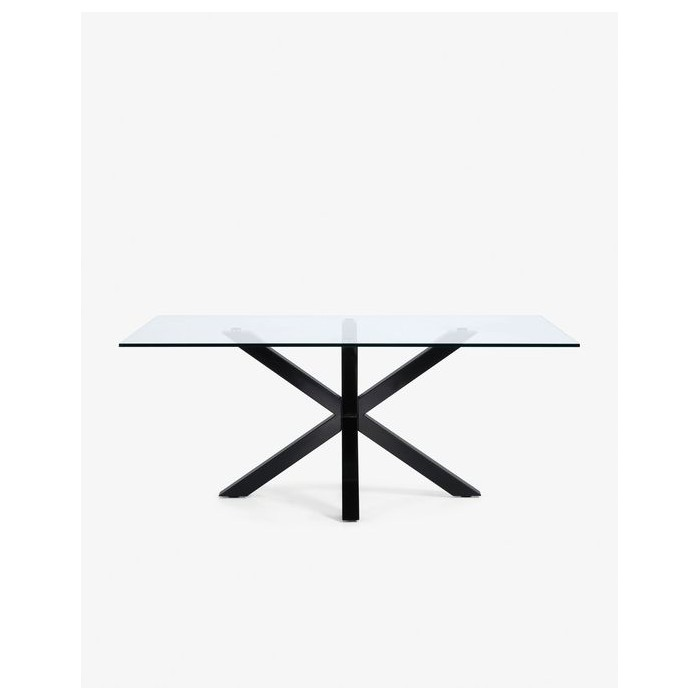 ARYA(ARGO) table 200x100 black, clear glass