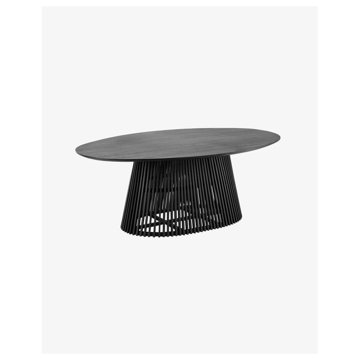 JEANETTE ø 200 x 120 cm black table