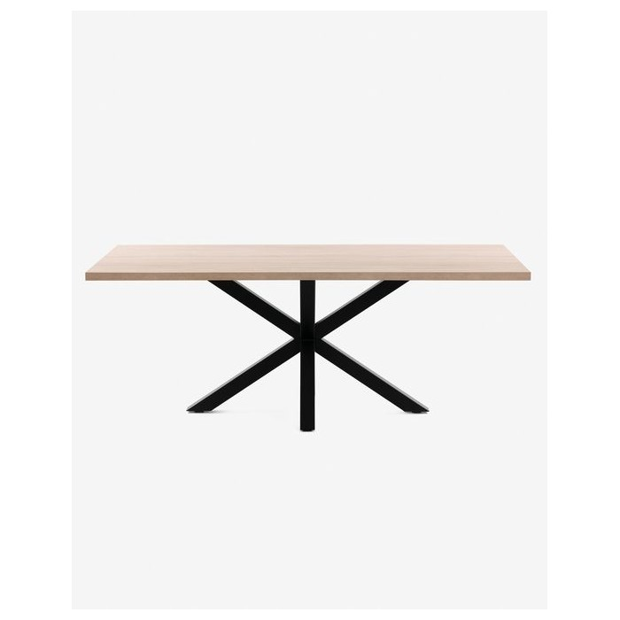 C409M46 - Argo table 180 cm natural melamine black legs