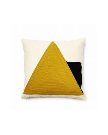 SINNA cushion   45 x 45 cm yellow / Fluff