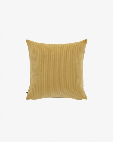 NAMIE Mustard corduroy cushion   45 x 45 cm / Fluff