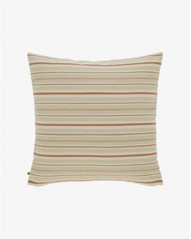 SYDELLE striped beige cushion   60 x 60 cm / Fluff