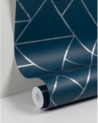Gea 10 x 0,53 m blue and silver wallpaper
