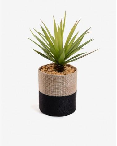 ZELENA sword grass fabric pot