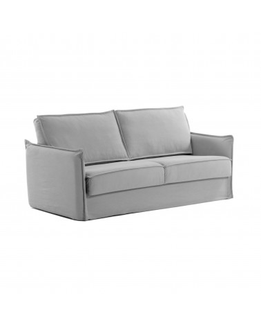 SAMSA sofa bed 160 cm polyurethane grey