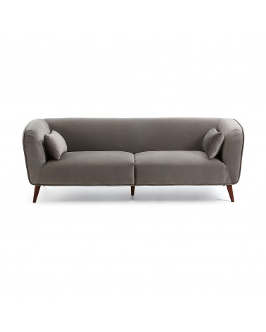 Grey velvet three-seater Olost sofa 229 cm