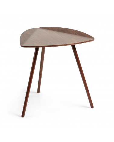 Damasc side table in veneered walnut wood 45 x 47cm
