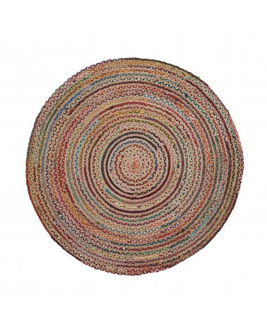 SAMY(SAHT) carpet jute round 150 natural multicolor