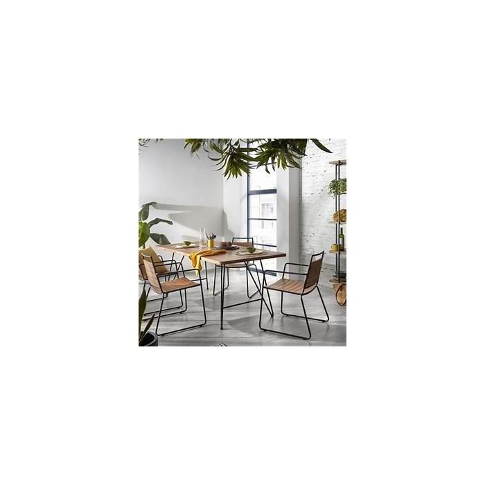 KOMME table 200 x 90 cm + KOMFORT armchair