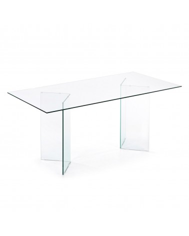 BURANO dining table 180*90 glass clear c418c07
