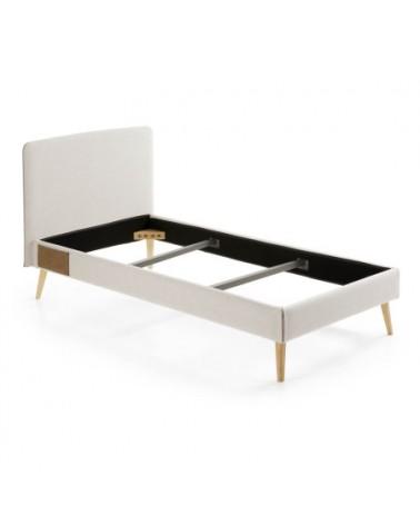 D037VA12 DYLA bed 90 x 190 cm beige / TALO bed base 90 x 190 cm