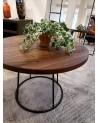 KAZFR02 ROUND COFFEE TABLE  WALNUT