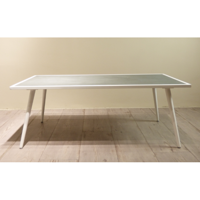 SERPENT COFFEE TABLE 23514 CONCRETE / WHITE MATT