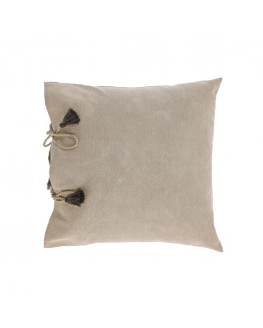 AA8356J12 VARINA 100% cotton cushion in brown 45 x 45 cm and fluff inside