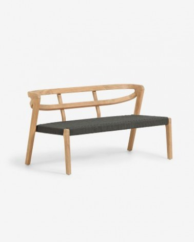 CC2002J19 EZILDA two-seater sofa made from solid eucalyptus wood and green cord FSC 100%