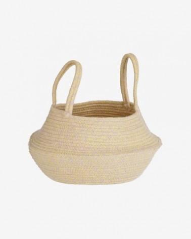 AA7779J31 SIBILA 100% cotton basket in beige