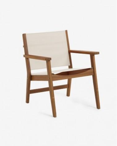 CC2175J14 HILDA solid acacia outdoor armchair in beige FSC 100%
