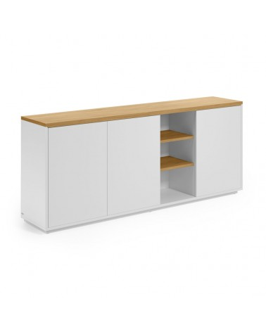 CC2057L05 ABILEN oak veneer and white lacquer sideboard 180 x 75 cm