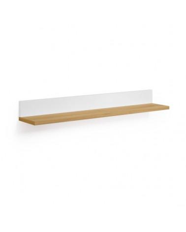 AA8642L05 ABILEN oak veneer and white lacquer shelves 80 x 9 cm