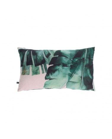 AA8666 - Hermie cushion cover with green leaves 30 x 50 cm and Fluff inside
