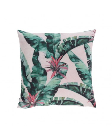 AA8665 Hermie cushion cover with green leaves 45 x 45 cm and fluff inside