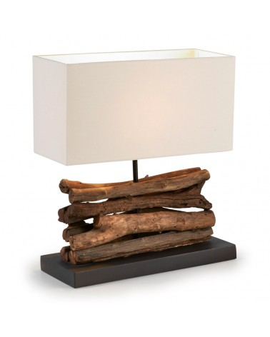 EA333FN39 IAHAS table lamp tropical wood shade white