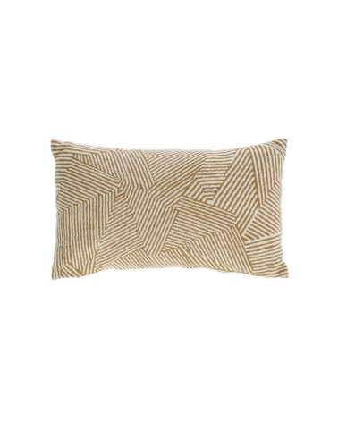 AA8301J10 DEVI 100% cotton cushion cover with beige and brown stripes 30 x 50 cm and Fluff inside
