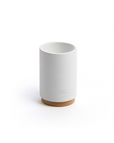 AA3920Y05 - Elora white and beech toothbrush holder