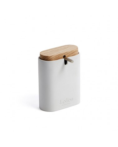 AA3922Y05 - Elora white and beech soap dispenser