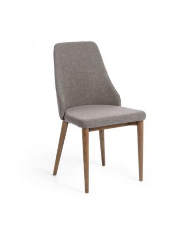 CC0986PK03 - ROSIE chair light grey dark finish