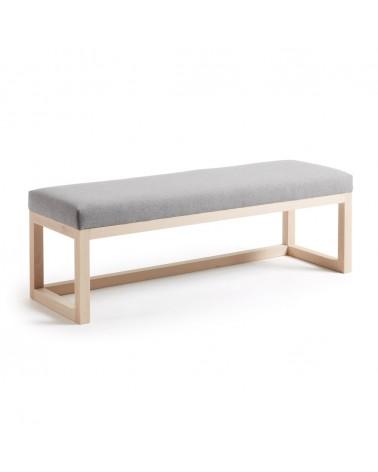 CC0466VA03 - Grey Loya bench in solid beech wood 128 cm