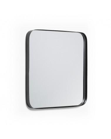AA2546R01 - Marco black metall wall mirror 40 x 40 cm