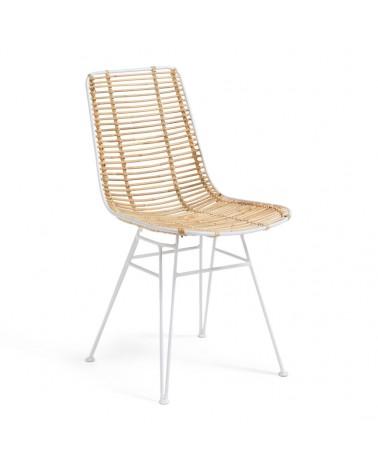 CC2977E05 - Tishana chair rattan and white steel finish