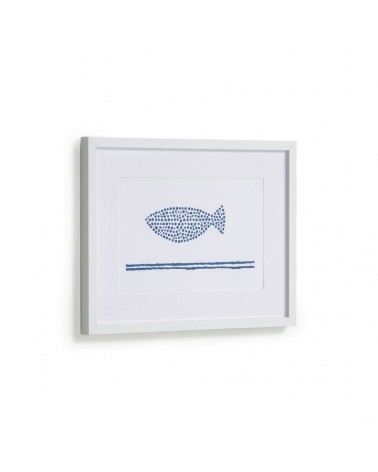 AA8120 - Kuma fish picture with blue dots 30 x 40 cm