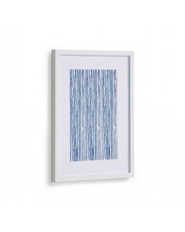 AA8121 - Kuma picture with blue stripes 30 x 40 cm