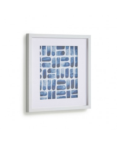 AA8131 - Kuma picture with blue rectangles 40 x 40 cm