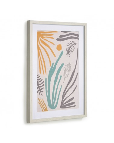 AA8135 - Kamara picture with multicoloured seaweed 50 x 70 cm