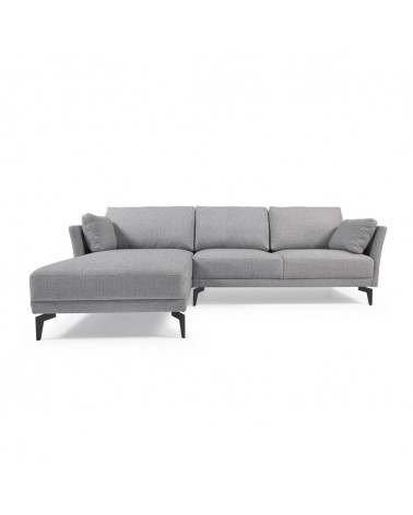 S682MN14 - Gilma 3-seater sofa with left-hand chaise longue in grey 260 cm