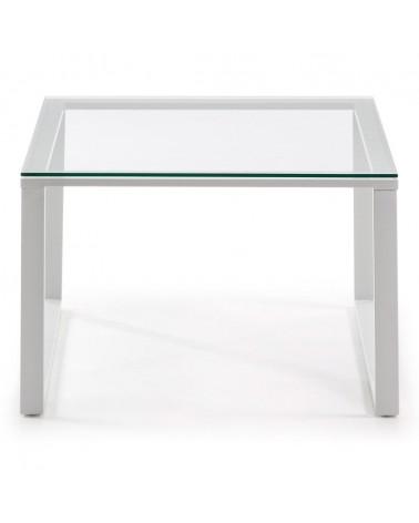C349C07 SIVAN (NAVIS) coffee table 60x60 white epoxy clear glass