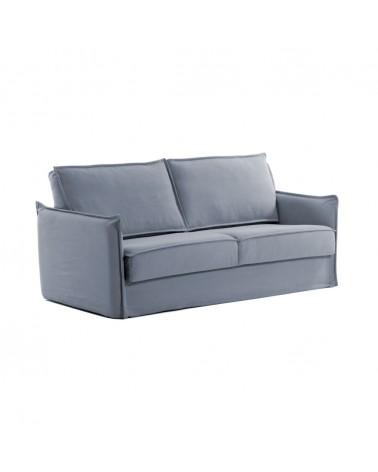 S473BL26 SAMSA sofa bed in blue polyurethane 160 cm