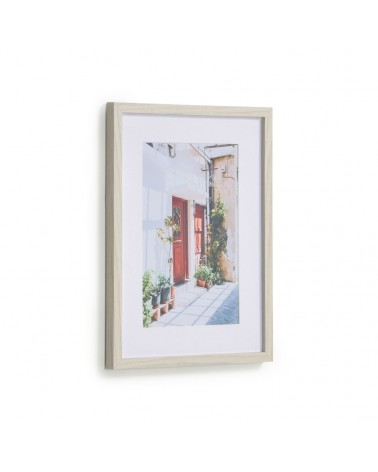 AA8124 Leyla picture of house with red door 30 x 40 cm